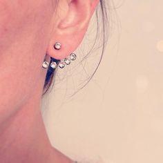 Oorbellen met stras steentjes #ohsohip #earrings