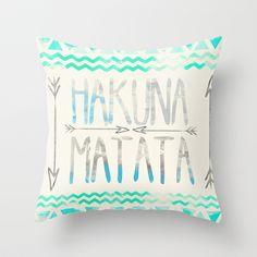 Hakuna Matata Throw Pillow by Sara Eshak - $20.00