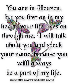 Noah I love you so much. I miss you my sweet angel. I promise I will be the best person I could be for you my son.