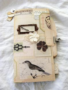 Nature Journal, Travelers Notebook, Junk Journal, Smash Book, Mixed Media Art Book, Vintage, Shabby Scap, Rustic Chic