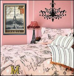pink walls and bed spread