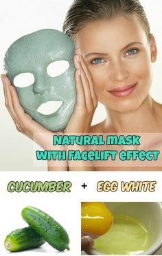 Natural mask with facelift effect