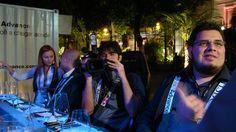 Hélio e Vitor em um jantar a 40 metros de altura, na Praça Mauá, Rio, servidos pela Chef Flávia Quaresma.