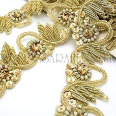Gold Sequin and beaded  trim - sarahi.co.uk
