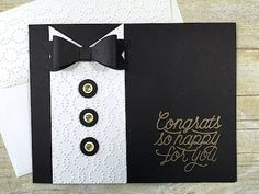 Simply Simple Flash Cards 2.0 - Tuxedo Card by Connie Stewart