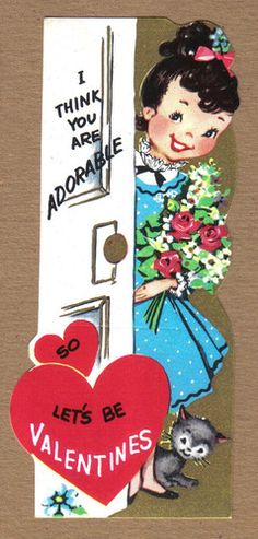 Valentine's Day card * 1500 free paper dolls at Arielle Gabriel's The International Paper Doll Society and The China Adventures of Arielle Gabriel for Chinese and Japanese paper dolls free *