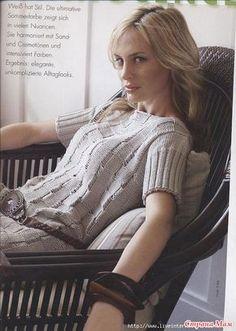 Элегантный пуловер спицами - Вязание - Страна Мам