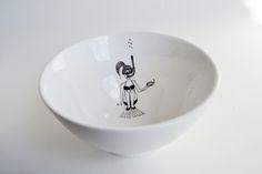 snorkling girl bowl