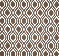sorta. Modern Geometric Brown & White Fabric by the Yard Wide Cotton Duck, Home Decor Fabric Drapery Fabric, Pillows, Modern Brown Geometric Fabric