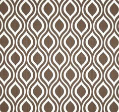 Modern Geometric Brown Home D Cor Fabric By The Yard Designer Drapery Or Upholstery Yardage Cotton Quatrefoil Geometric Craft Fabric