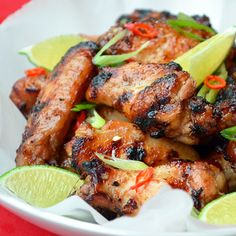 Chicken Wings with Honey and Ginger - french food blogs are the best!