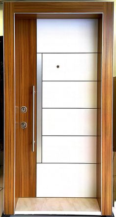 Main door design modern window 23 Ideas for 2019 Flush Door Design, Door Gate Design, Wooden Door Design, Main Door Design, Front Door Design, Wooden Doors, Woodworking Ideas To Sell, Woodworking Furniture, Woodworking Bench