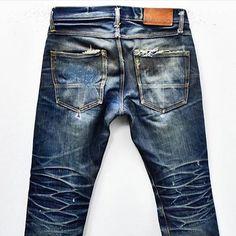 Worn-out @tellason. 2 years old, 1 wash. #tellason #denim #jeans #wornout #faded…