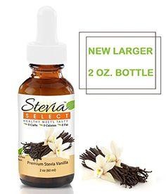 All-natural, alcohol free vanilla stevia