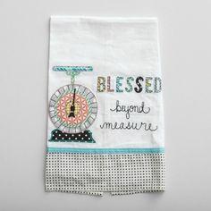 Blessed Beyond Measure - Tea Towel