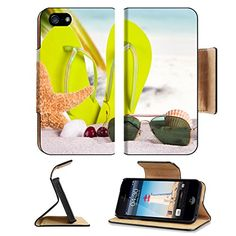 MSD Premium Apple iPhone 5 iphone 5S Flip Pu Leather Wallet Case Summer concept iPhone5 IMAGE 33940042 *** More info could be found at the image url.
