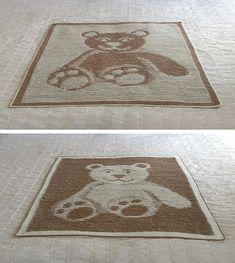 Ravelry: Teddy Bear Illusion Blanket and Cushion pattern by Steve Plummer Crochet Afgans, Pattern Library, Illusions, Ravelry, Cushions, Teddy Bear, Knitting, Baby Blankets, Yarns