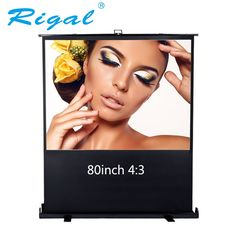 "228.00$  Buy now - http://alig88.worldwells.pw/go.php?t=32789787852 - ""Rigal 80inch 80"""" Diagonal 4:3 Projector Screen Portable Floor Manual Pull up Screen Home Theater Office Projection Screen"" 228.00$"
