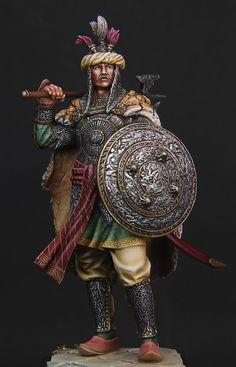 Guerrier Moghol 17-18ème siècle 75mm - Terminé