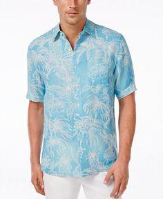 Tasso Elba Men's Big and Tall Zen Resort Short-Sleeve Shirt, Only at Macy's