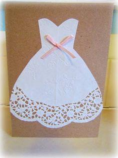 DIY Bridal Shower ::The Invitations:: , diy_bridal_shower_invite. Wedding Invitations Lace Pearls And Chocolate Diy Bridal Shower , . Bridal Shower Decorations, Bridal Shower Gifts, Bridal Shower Invitations, Paper Doily Crafts, Paper Doilies, Wedding Shower Cards, Wedding Cards, Diy Wedding Dress, Doily Wedding