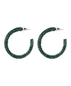 Another great find on #zulily! Emerald Austrian Crystal Sunrise Crystal Earrings #zulilyfinds