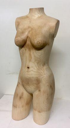 Akt Torso aus Holz 2020 Karl F. Schmidt Schmidt, Statue, Timber Wood, Sculptures, Sculpture
