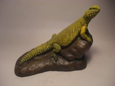 Hey, I found this really awesome Etsy listing at https://www.etsy.com/listing/169367295/yellow-saharan-uromastyx-sculpture