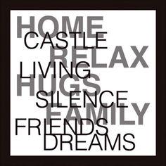 Bild Zuhause #miavilla #bilder #wandbilder #sprüche #home #castle #relax