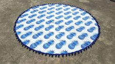 Calypso Crush Pineapple Round Beach Towel