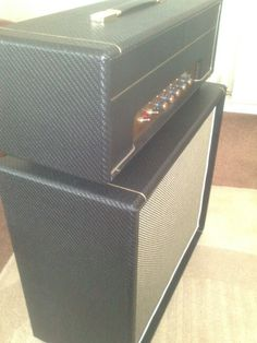 Hand built by myself, point to point hand wired valve head and oversized 1 x 12 cab