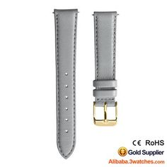Grey Genuine Leather Watches Strap 3W-S-L25, click picture to designs your own brand watch.