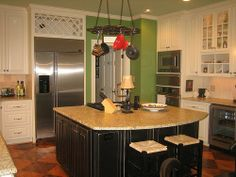 ideas for colors to paint a kitchen island
