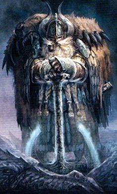 Dwarf Lord with  heavy bear cloak