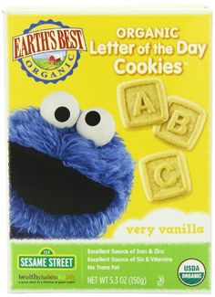 Earth's Best Organic Very Vanilla Letter of the Day Cookies, 5.3 Ounce Box (Pack of 6) - http://goodvibeorganics.com/earths-best-organic-very-vanilla-letter-of-the-day-cookies-5-3-ounce-box-pack-of-6/