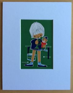 Jaklien Moerman Retro Postcard mounted and ready to frame Musical Youth