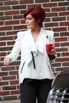 Sharon Osbourne - Sharon Osbournes Drink Matches Her Hair