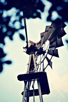 Old metal windmill...