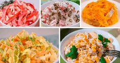 5 самых быстрых и вкусных салатов на праздничный стол - interesno.win Slow Cooker Recipes, Nutella, Salad Recipes, Cabbage, Salads, Deserts, Food And Drink, Snacks, Vegetables