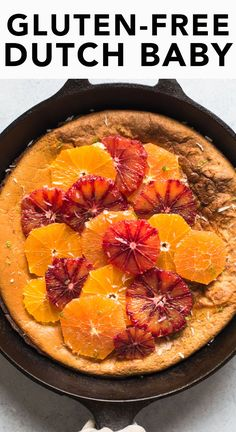 Gluten-Free Dutch Baby with Oats - easy, healthy breakfast that's packed with protein!