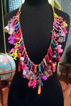 80s charm necklace - I totally had a ZILLION of these!!!