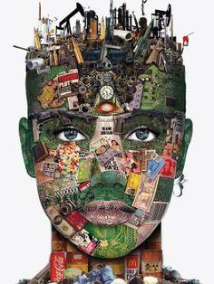 face facts by Shilah Sayer Digital collage Art And Illustration, Psychedelic Art, Digital Collage, Collage Art, Face Collage, Pop Art Bilder, Atelier D Art, Identity Art, Gcse Art