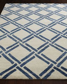 Navy+Lattice+Rug+by+Safavieh+at+Horchow.
