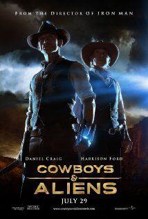 Cowboys & Aliens (2011), Universal Pictures, DreamWorks SKG, and Reliance Entertainment with Daniel Craig, Sam Rockwell, Olivia Wilde and Harrison Ford. Not bad.