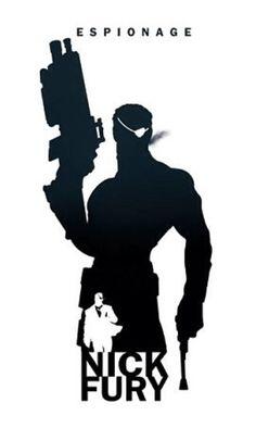 Nick Fury silhouette by Steve Garcia.