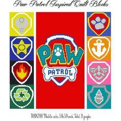 Paw Patrol quilt block set crochet graph by CrochetInfinity - Craftsy