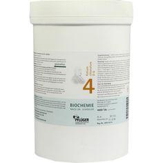 BIOCHEMIE Pflueger 4 Kalium chloratum D 6 Tabletten:   Packungsinhalt: 4000 St Tabletten PZN: 06318938 Hersteller: A.Pflüger GmbH & Co.…