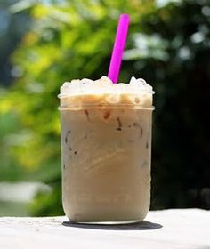 Iced Coffee made with sweet cream.  Yummy!!! Ingredients-