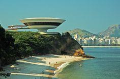 Niteroi Contemporary Art Museum, designed by Oscar Niemeyer…