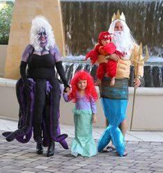 Homemade ursula costume all done in one night halloween 2014 family costume adorable the little mermaid ursula diy solutioingenieria Images